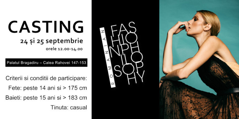 Casting Romanian Fashion Philosophy 24,25 Septembrie
